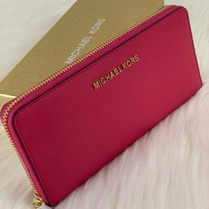 🌸Michael Kors LG Continental Wallet Electric Pink